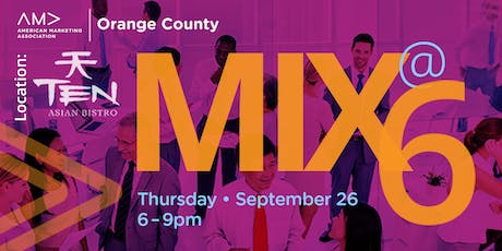 Mix@Six! is happening! tickets