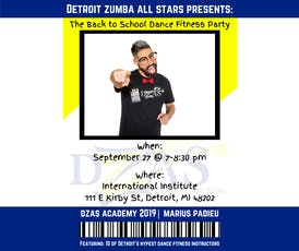 Detroit Zumba All Stars presents the Back to School Dance Fitness Party tickets