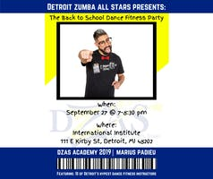 Detroit Zumba All Stars presents the Back to School Dance Fitness Party