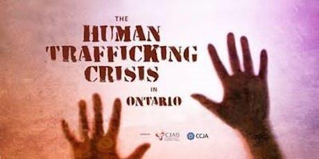 Human Trafficking Crisis in Ontario tickets