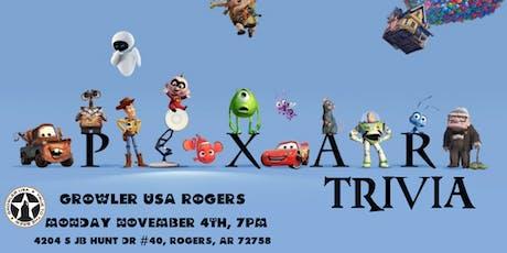 Disney Pixar Trivia at Growler USA Rogers tickets