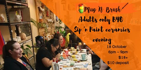 Adults BYO Ceramic Painting evening tickets