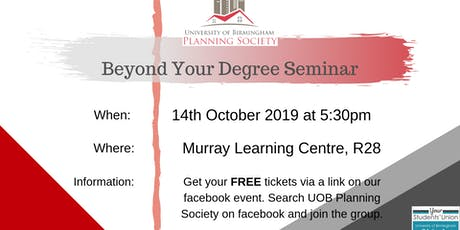 Beyond Your Degree Seminar tickets