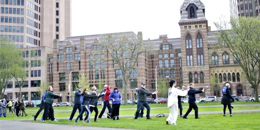 Tai Chi Pop-Up on the New Haven Green