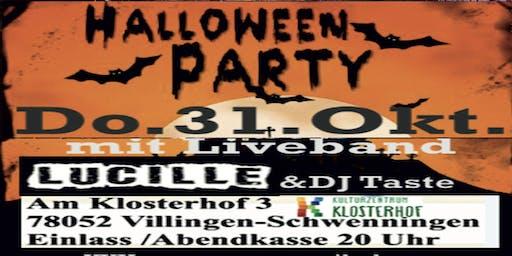 HalloweenParty &Band Lucille Villingen Kulturzentrum Klosterhof