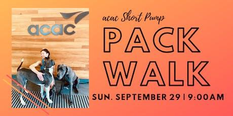 acac September  Pack Walk tickets