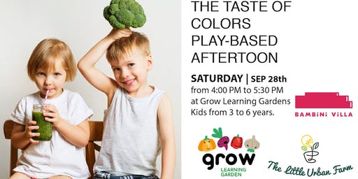 Kids Play-based afternoon: the taste of colors