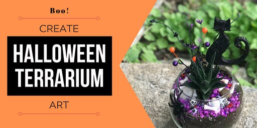 Halloween Terrarium Art: Design & Create a Whimsical, Succulent Garden.