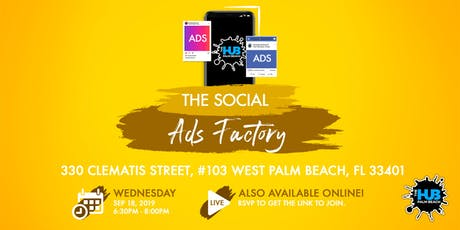 THE SOCIAL ADS FACTORY tickets
