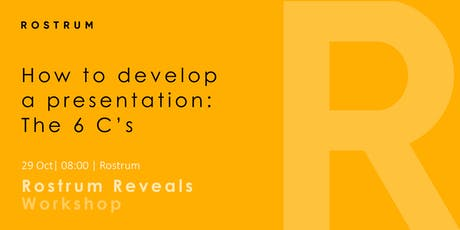 Developing a presentation: the 6Cs tickets