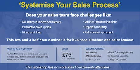 Systemise Your Sales Process  tickets