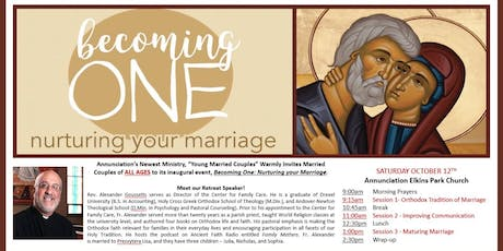 Becoming One: Nurturing Your Marriage tickets