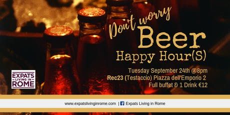 Don't worry Beer Happy Hour(S) tickets