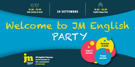 Welcome to JM English PARTY - Palermo biglietti