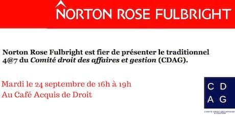 4@7 CDAG - présenté par Norton Rose Fulbright tickets
