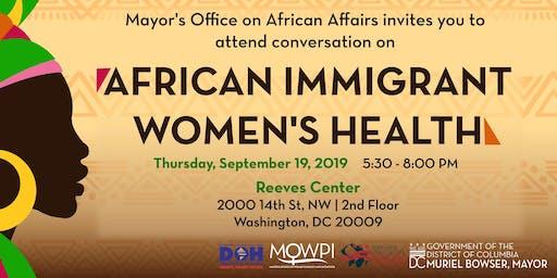 MOAA's Conversation on Women Immigrant Health
