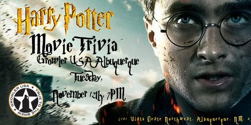 Harry Potter Movies Trivia at Growler USA Albuquerque