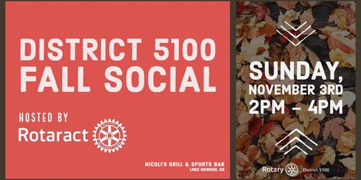 District 5100 Fall Social