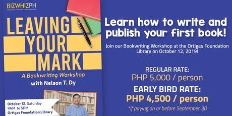 Leaving Your Mark: A BookWriting Workshop tickets