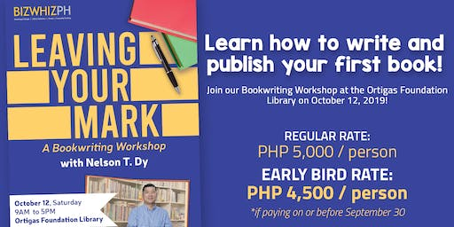 Leaving Your Mark: A BookWriting Workshop
