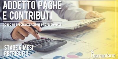 Addetto paghe e contributi - Corso di formazione professionale, 3a edizione