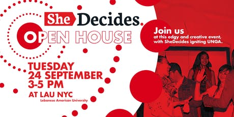 SheDecides Open House tickets
