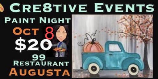 $20 Paint Night Yay ! @ 99 Restaurant Augusta 10/9