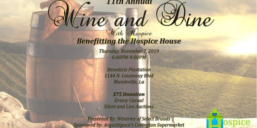 11th Annual Wine and Dine with Hospice