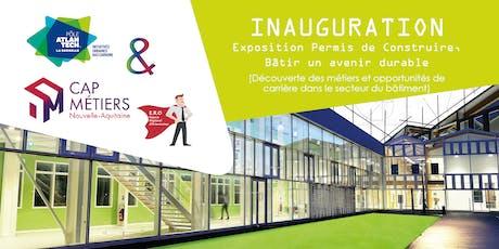 Inauguration de l'exposition Permis de Construire billets