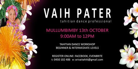 Tahitian Dance Workshop with Vaih Pater tickets