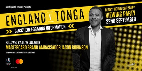 England v Tonga Viewing Party, plus live Q&A with Jason Robinson tickets
