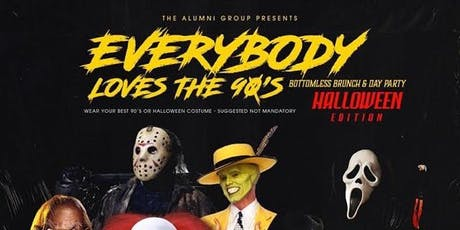 Everybody Loves The 90's Bottomless Brunch & Day Party - Halloween Edition tickets