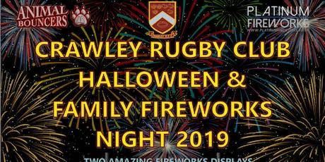 Crawley RFC Halloween & Family Fireworks Night 2019 tickets