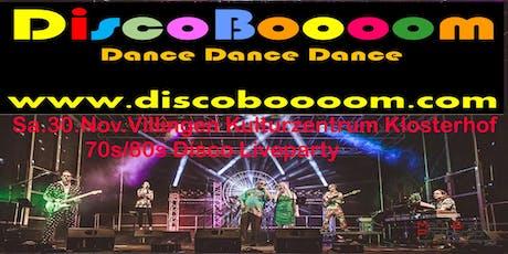 70s/80s Tributeshow mit DiscoBoooom in Villingen Kulturzentrum Klosterhof Tickets