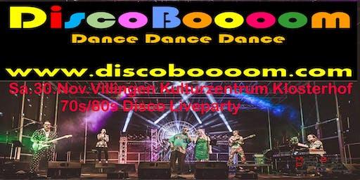 70s/80s Tributeshow mit DiscoBoooom in Villingen Kulturzentrum Klosterhof