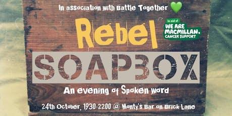 Rebel Soapbox Spoken Word tickets