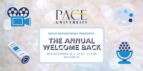 Welcome Back - MCVA Department tickets
