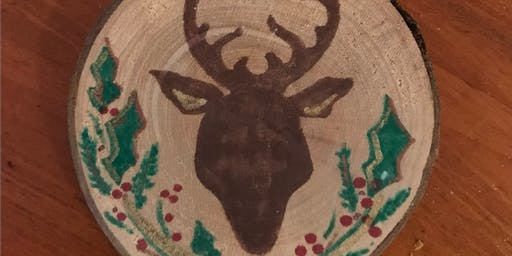 Adults Night Out: Paint Your Own Wood Slice Ornaments at Gather