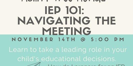 IEP 101: Navigating the Meeting Workshop
