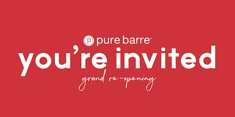 Pure Barre Houston Grand Re-Opening tickets