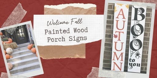 Welcome Fall - Create a Painted Wood Porch Sign