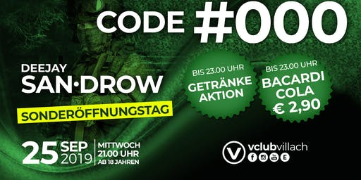 Code#000 - die Abrüster Party