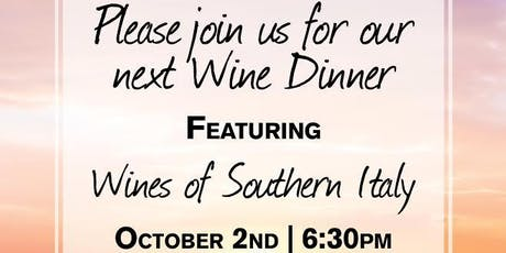 Wines of Southern Italy tickets