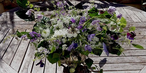 Summer Flower Posy Workshop at Mells walled Garden