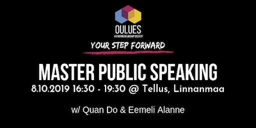 Master Public Speaking -workshop