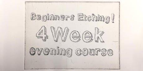 Beginners Etching - 4 week evening class tickets