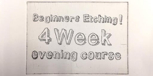 Beginners Etching - 4 week evening class