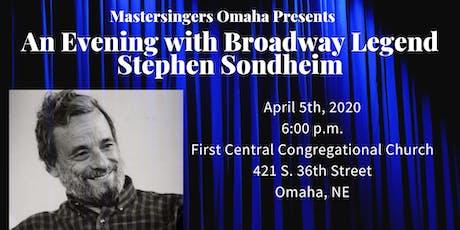 An Evening with Broadway Legend Stephen Sondheim tickets