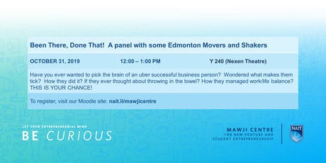 Been There, Done That!  A Movers and Shakers Panel tickets