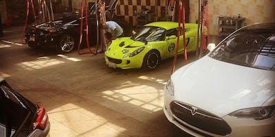 Tesla Club LA September Cars & Coffee at Lavaggio